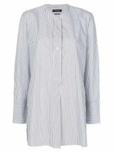 Isabel Marant striped collarless shirt - Grey