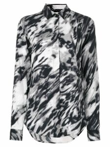 Saint Laurent blurred leopard print shirt - Multicolour