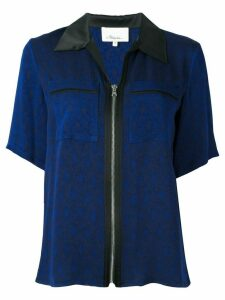 3.1 Phillip Lim zipped short sleeve shirt - Blue
