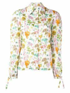 Olympia Le-Tan mushroom print shirt - White