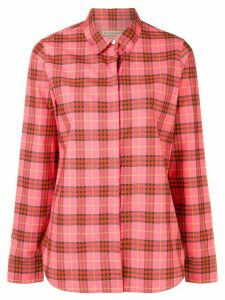 Burberry checked button shirt - Pink