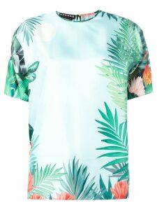 Rochas floral print silk blouse - Green
