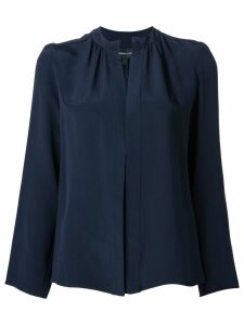 Derek Lam Kara long-sleeve silk blouse - Blue