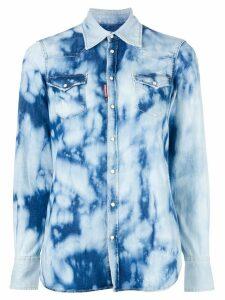 Dsquared2 bleached denim shirt - Blue