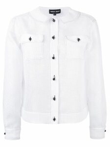Giorgio Armani button-up longsleeve shirt - White