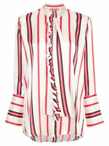 Maggie Marilyn striped pussybow shirt - White
