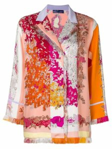 Emilio Pucci fringed floral shirt - PINK