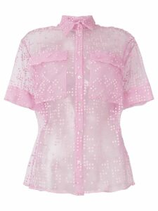 Si-Jay embroidered sheer shirt - PINK
