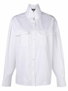 Karl Lagerfeld Karl shirt with top stitching - White