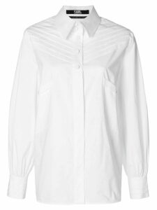 Karl Lagerfeld Karl fitted shirt with pleats - White