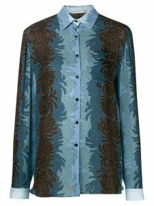 Marco De Vincenzo floral print shirt - Blue