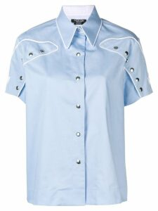 Calvin Klein 205W39nyc short sleeved western shirt - Blue