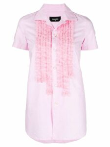 Dsquared2 ruffle front shirt - PINK