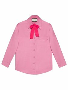 Gucci Silk bow shirt - PINK