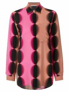 Marco De Vincenzo geometric print longline shirt - PINK