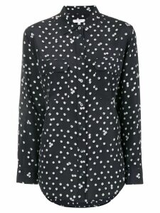 Equipment dotted print shirt - Blue