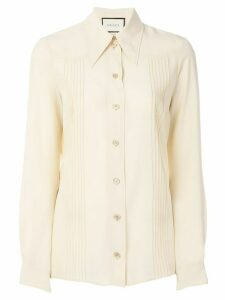Gucci pointed collar shirt - NEUTRALS