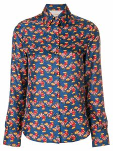 La Doublej chicken print shirt - Blue