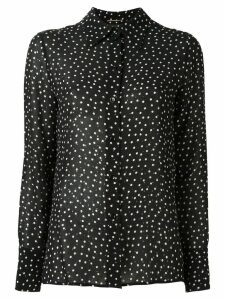 Saint Laurent sequin embellished printed shirt - Black
