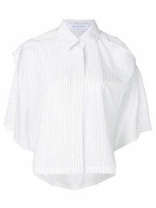 Walk Of Shame pinstripe cut out shirt - White