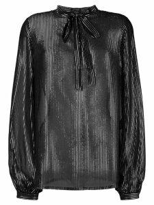 Saint Laurent striped lamé shirt - Black