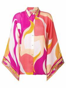 Emilio Pucci floral detailing blockcolour shirt - Multicolour