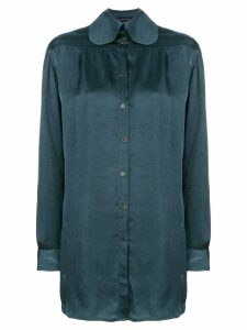 Miaoran long-sleeve fitted shirt - Blue