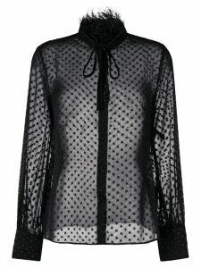 Cavalli Class dot sheer blouse - Black