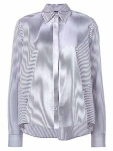 Adam Lippes cutout-detail striped shirt - Blue