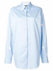 Calvin Klein 205W39nyc plain button shirt - Blue