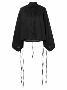 Mm6 Maison Margiela tied wide sleeve shirt - Black