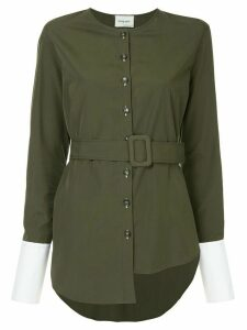 Monographie trench long sleeve shirt - Green