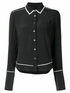 Equipment contrast-trim long sleeve shirt - Black