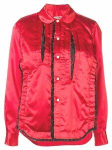 Comme Des Garçons ruffled trim shirt - Red