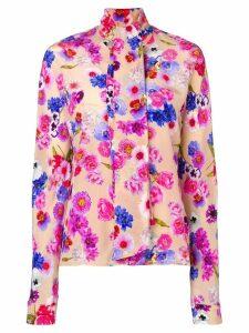 Natasha Zinko pussy bow floral blouse - PINK