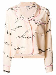 Natasha Zinko graphic print pajama shirt - Neutrals