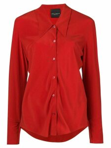 Erika Cavallini buttoned silk shirt - Red