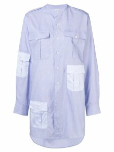 JW Anderson contrast pockets workwear long shirt - Blue