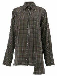 Rokh checked oversized shirt - Green
