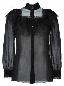 Saint Laurent 70's folk blouse - Black
