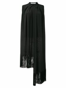 Givenchy asymmetric fringe trim blouse - Black