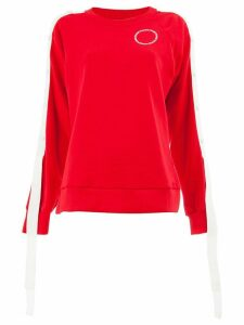 Monse striped sweatshirt - Red