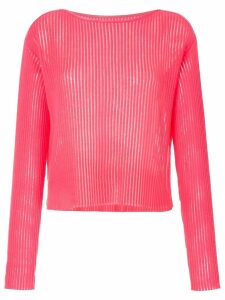 Onefifteen semi sheer ribbed top - PINK