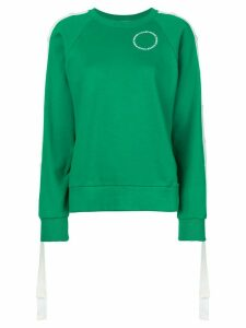 Monse press stud sleeve sweatshirt - Green