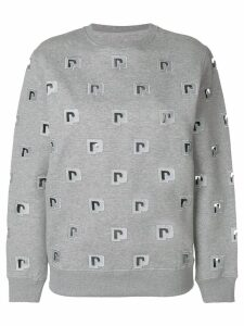 Paco Rabanne logo embroidered sweatshirt - Grey