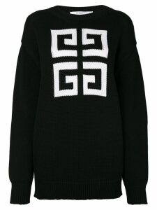 Givenchy knitted pattern jumper - Black