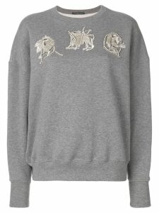 ALEXANDER MCQUEEN AMQ embroidered sweatshirt - Grey