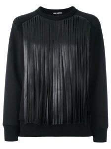 Neil Barrett fringed sweatshirt - Black