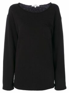 Helmut Lang raw-edge detail sweatshirt - Black