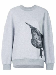 Ioana Ciolacu bird print sweater - Grey